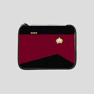 "Star Trek: TNG Uniform - Captain 13"" Laptop Sleeve"