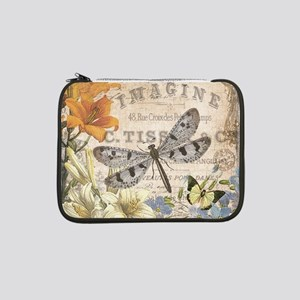"""modern vintage French dragonfly 13"""" Laptop Sleeve"""