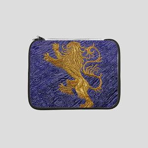 "Rampant Lion - gold on blue 13"" Laptop Sleeve"
