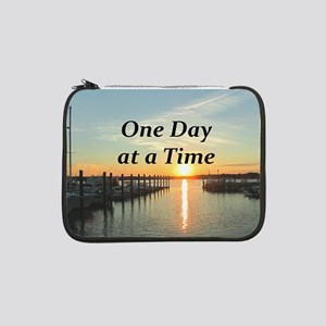 """ONE DAY AT A TIME 13"""" Laptop Sleeve"""