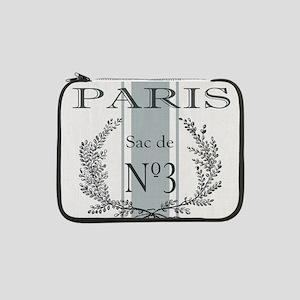 "Vintage French Paris grain sac 13"" Laptop Sleeve"