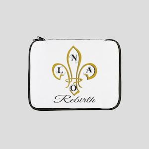 "NOLA Rebirth Fleur de Lis 13"" Laptop Sleeve"