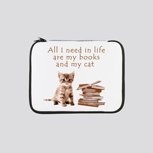 """Cats and books 13"""" Laptop Sleeve"""