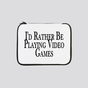 """Rather Play Video Games 13"""" Laptop Sleeve"""