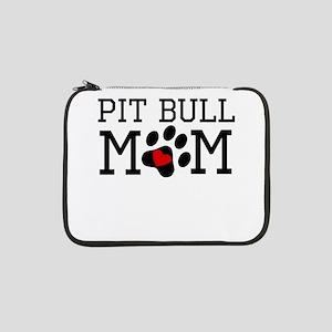 "Pit Bull Mom 13"" Laptop Sleeve"