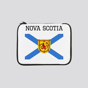 "Nova Scotia Flag 13"" Laptop Sleeve"