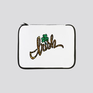 "irish clover shamrock 13"" Laptop Sleeve"