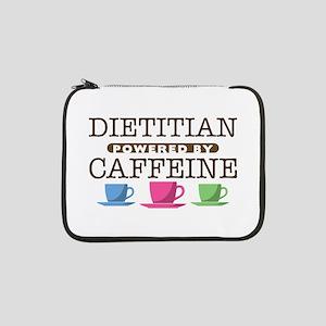"Dietitian Powered by Caffeine 13"" Laptop Sleeve"