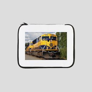 """Alaska Railroad engine locomotiv 13"""" Laptop Sleeve"""