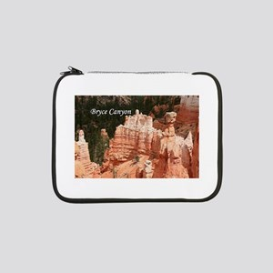 """Bryce Canyon, Utah 3 (caption) 13"""" Laptop Sleeve"""