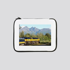 "Alaska Railroad locomotive engin 13"" Laptop Sleeve"
