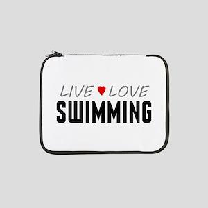 "Live Love Swimming 13"" Laptop Sleeve"
