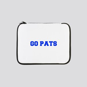 "Go Pats-Fre blue 13"" Laptop Sleeve"