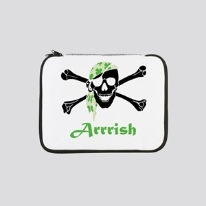 "Arrish Irish Pirate Skull And Crossbones 13"" Lapto"