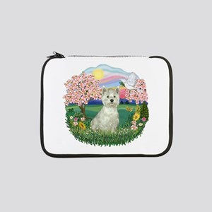 "Blossoms-Westie 8 13"" Laptop Sleeve"