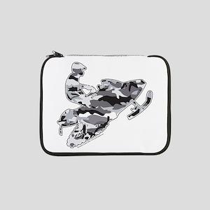 "Camouflage Grey Snowmobiler 13"" Laptop Sleeve"