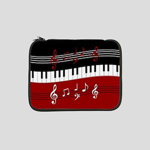 "Stylish Piano keys and musical n 13"" Laptop Sleeve"