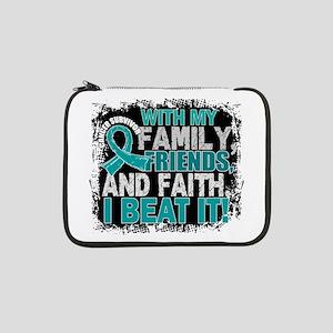 "Ovarian Cancer Survivor FamilyFr 13"" Laptop Sleeve"