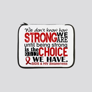 """AIDS How Strong We Are 13"""" Laptop Sleeve"""