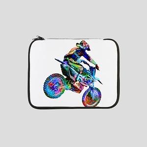 "Super Crayon Colored Dirt Bike C 13"" Laptop Sleeve"