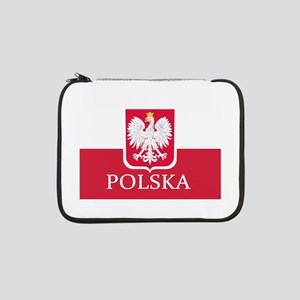 "Polska Polish Flag 13"" Laptop Sleeve"