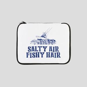 """Salty Air Fishy Hair 13"""" Laptop Sleeve"""