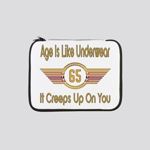 "Funny 65th Birthday 13"" Laptop Sleeve"