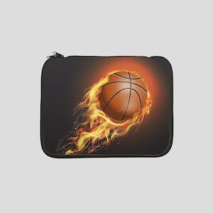 "Flaming Basketball 13"" Laptop Sleeve"