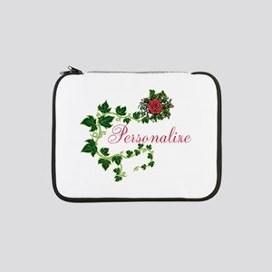 """Personalizable. Ivy Rose 13"""" Laptop Sleeve"""
