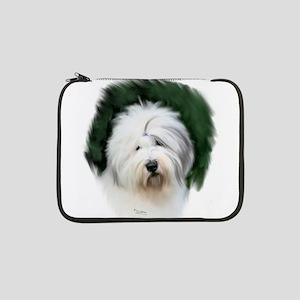 """old english sheepdog portrait 13"""" Laptop Sleeve"""
