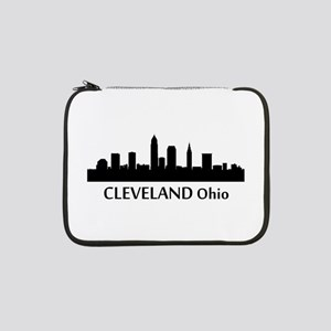 "Cleveland Cityscape Skyline 13"" Laptop Sleeve"
