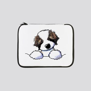 "St. Bernard Puppy Pocket 13"" Laptop Sleeve"