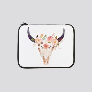 "Bull Head Flowers 13"" Laptop Sleeve"
