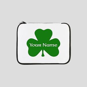 """CUSTOM Shamrock with Your Name 13"""" Laptop Sleeve"""