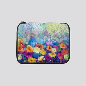 """Floral Painting 13"""" Laptop Sleeve"""