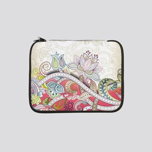 """Abstract Floral 13"""" Laptop Sleeve"""