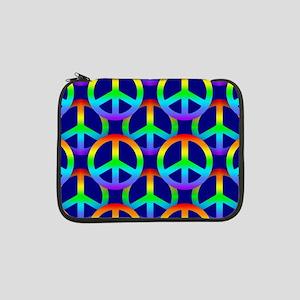 """Rainbow Peace Sign 13"""" Laptop Sleeve"""