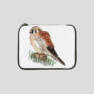 "Watercolor Kestrel Falcon Bird Nature Art 13"" Lapt"