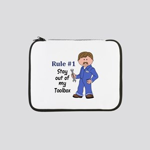 """STAY OUT OF MY TOOLBOX 13"""" Laptop Sleeve"""