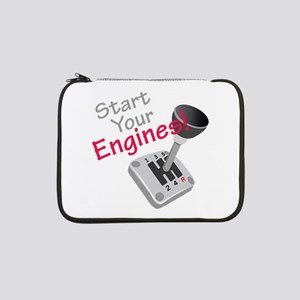 "Start Your Engines 13"" Laptop Sleeve"