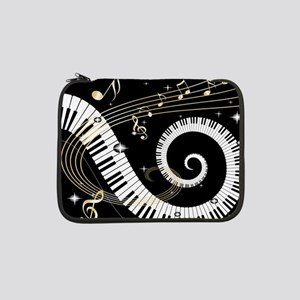 """Piano and musical notes 13"""" Laptop Sleeve"""