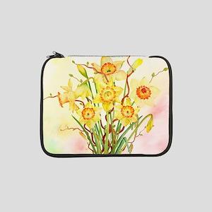 "Watercolor Daffodils Yellow Spri 13"" Laptop Sleeve"