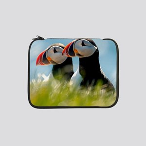 "Puffin Pair 14x14 600 dpi 13"" Laptop Sleeve"