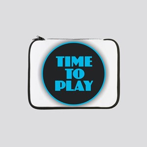 "Time to Play - Blue 13"" Laptop Sleeve"