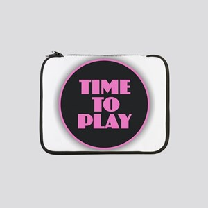 "Time to Play - Pink 13"" Laptop Sleeve"