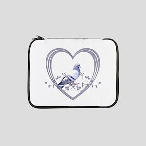 "Pigeon in Heart 13"" Laptop Sleeve"