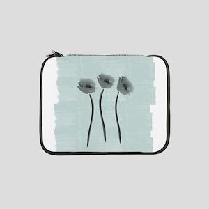 "Watercolor White Anemone 13"" Laptop Sleeve"