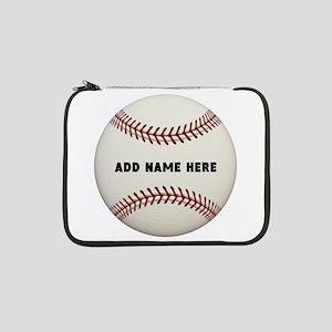 """Baseball Name Customized 13"""" Laptop Sleeve"""