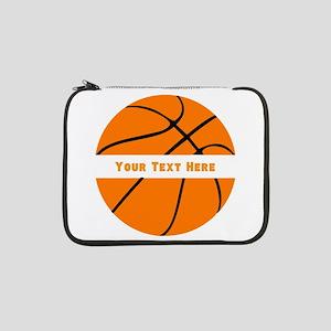 "Basketball Personalized 13"" Laptop Sleeve"