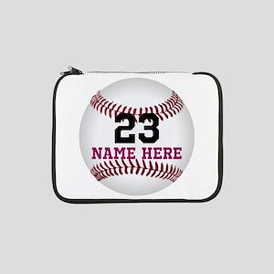 "Baseball Player Name Number 13"" Laptop Sleeve"